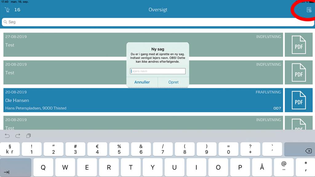 Det er nemt at lave en udflytningsrapport med DomuSpect - det digitale flyttesyn